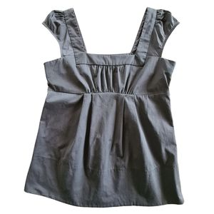Cue Women's Charcoal Grey Top Size 8